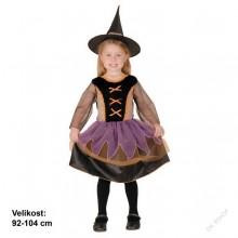 Dětský karnevalový kostým MALÁ ČARODĚJKA 92 - 104cm ( 3 - 4 roky )